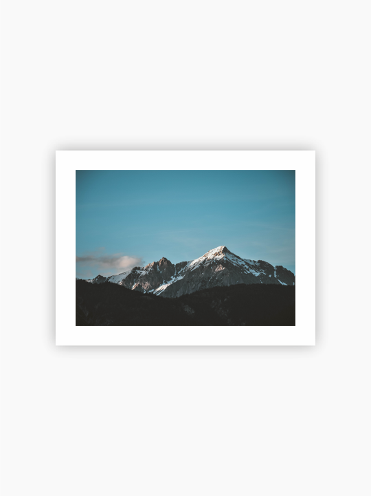 Icy Mountain tops Poster