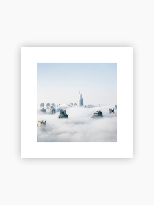 Buildings Above The Clouds Poster