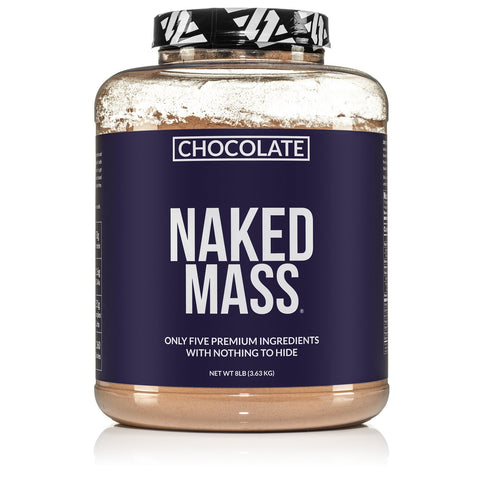 Chocolate Weight Gainer Protein Supplement | Less Naked Chocolate Mass - 8LB