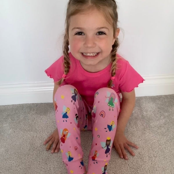 "Tiddler Leggings - ""Fabulous Fairies"" Hand Made in the UK!"
