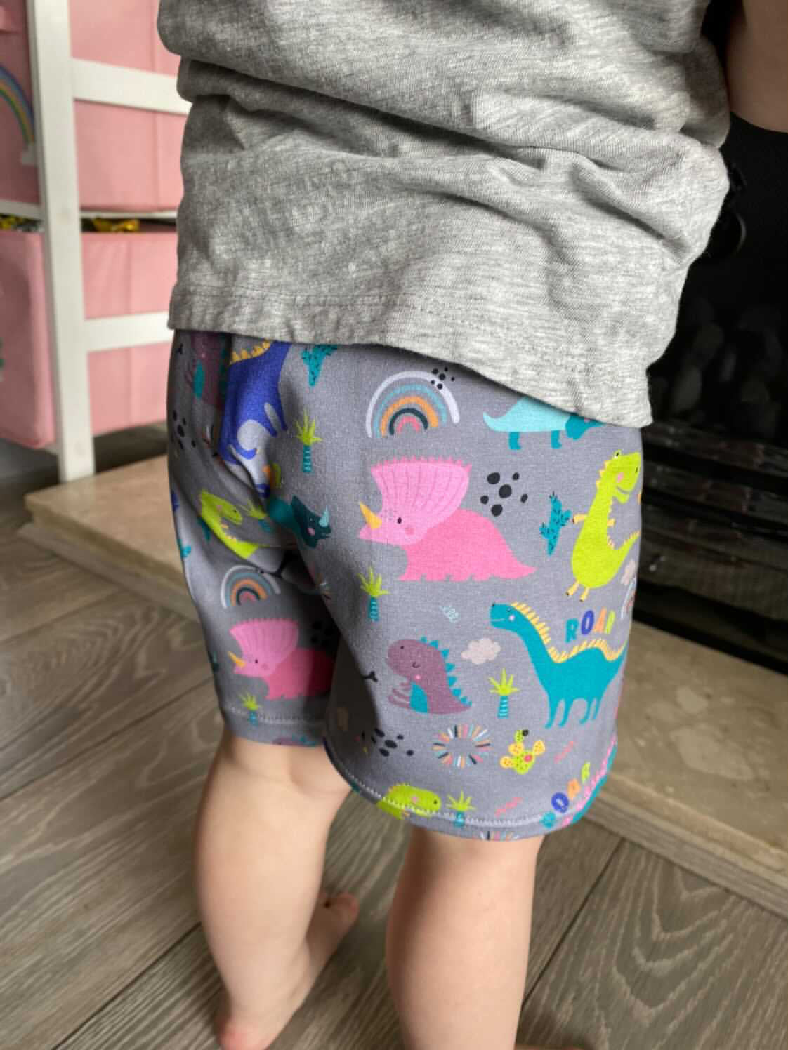 "Tiddler Shorts - ""Dinky Dinos"" Hand Made in the UK!"