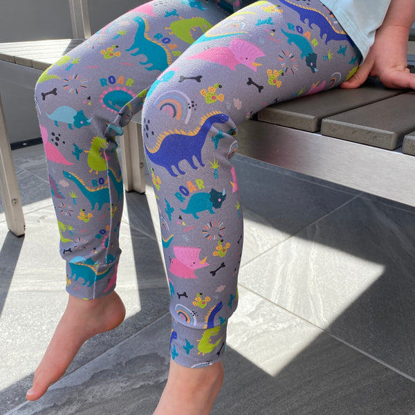 "Tiddler Leggings - ""Dinky Dinos"" Hand Made in the UK!"