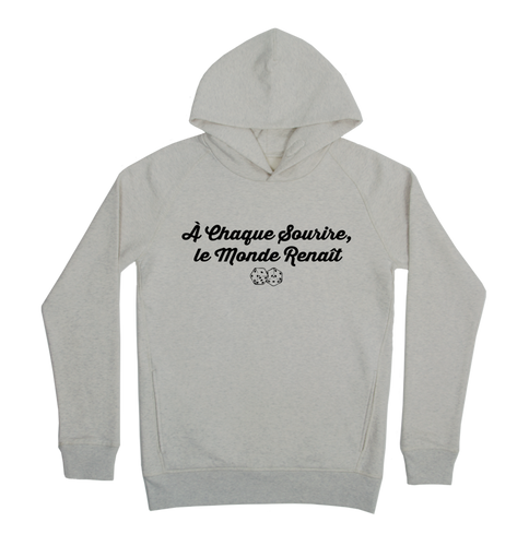A chaque sourire Hoodie Taille XL Couleur Heathergrey