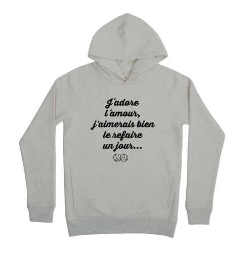 Adore l'amour Hoodie Taille XL Couleur Heathergrey