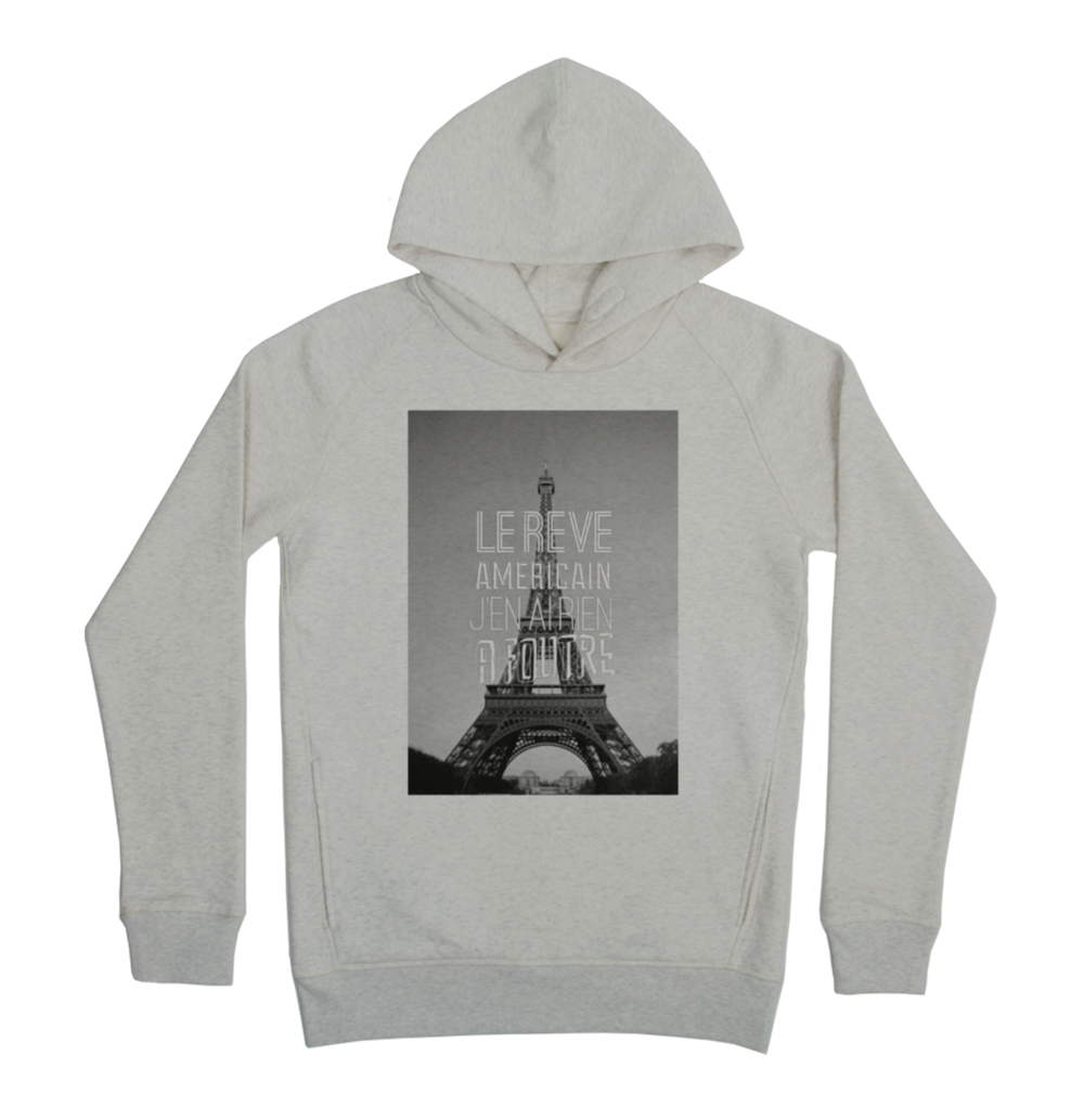 Le reve americain Hoodie Taille XL Couleur Heathergrey