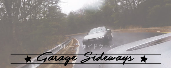 garage sideways apparel and merch banner for desktop