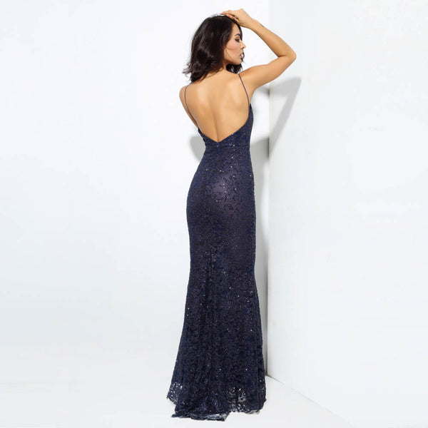 Franchette Open Back Maxi Dress