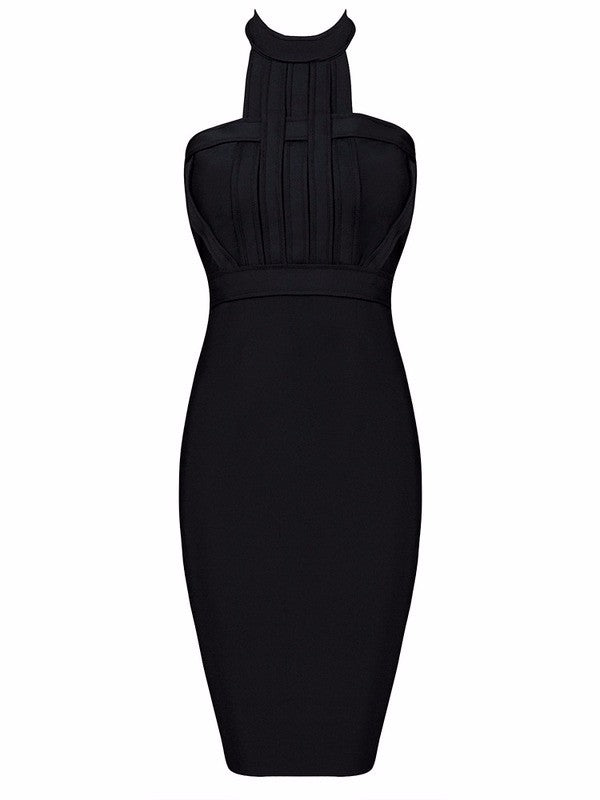 Giselle Halter Neck Bandage Dress