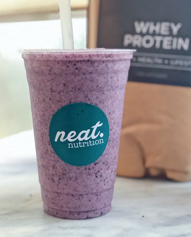 Blueberry Pie Shake Recipe | Neat Nutrition USA. Clean, Simple, No-Nonsense.