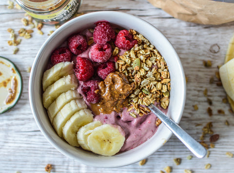 Raspberry Protein Smoothie Bowl Recipe | Neat Nutrition. Protein Powder Subscriptions.
