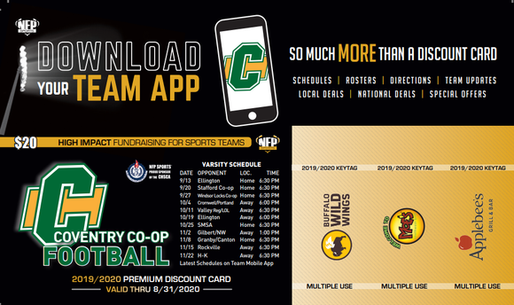 Coventry Co-op Football Premium Discount Card 2019 - NFP Sports CT East