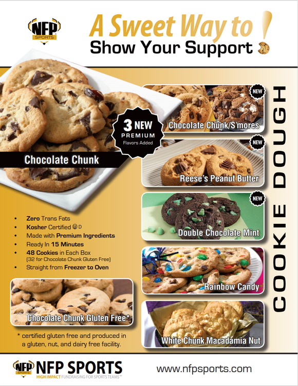 Southington Blue Knights Football Cookie Dough Online Payment 2021