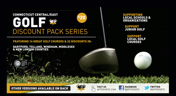 Woodstock Academy Centaurs Football 2021 Golf Discount Pack Series