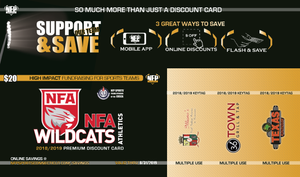 NFA Wildcats 2018 Football Premium Discount Card - NFP Sports CT East