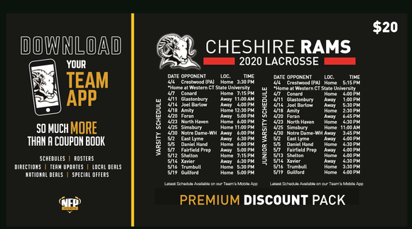 Cheshire Rams Boys' Lacrosse Premium Discount Pack 2020 - NFP Sports CT East