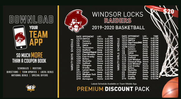 Windsor Locks Lady Raiders Girls' Basketball 2019 Premium Discount Pack - NFP Sports CT East