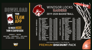 Windsor Locks Raiders Boys' Basketball 2019 Premium Discount Pack - NFP Sports CT East