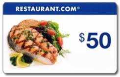 $50 Restaurant.com Gift Certificate - NFP Sports CT East