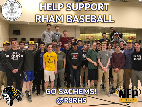 RHAM Sachems Baseball Premium Discount Card 2018 - NFP Sports CT East