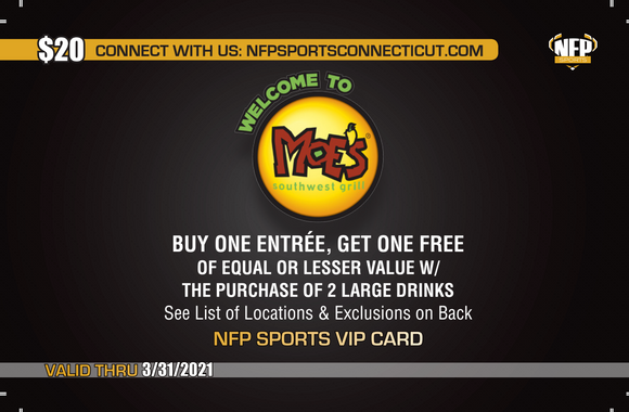 Fitch Falcons Boys' Soccer Moe's Southwest Grill VIP Card