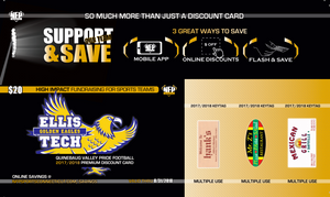 Ellis Tech Golden Eagles Soccer Premium Discount Card - NFP Sports CT East