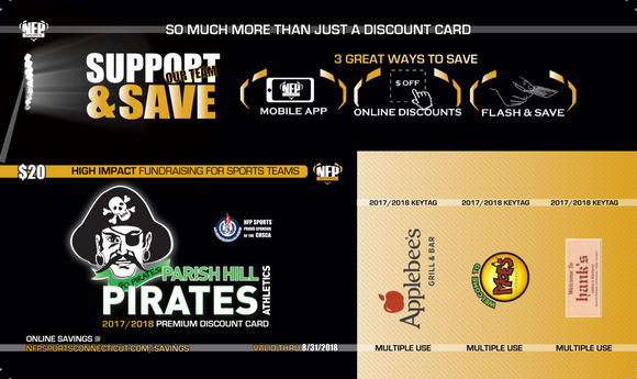Parish Hill Pirates Boys' Soccer Premium Discount Card - NFP Sports CT East