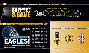 Wethersfield Eagles 2019 Football Premium Discount Card - NFP Sports CT East