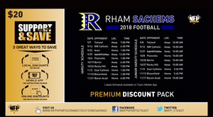 RHAM Sachems 2018 Football Premium Discount Pack - NFP Sports CT East