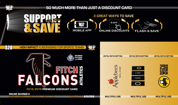 Fitch Falcons 2018 Girls' Soccer Premium Discount Card - NFP Sports CT East