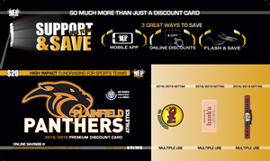 Plainfield Panthers 2018 Football Premium Discount Card - NFP Sports CT East
