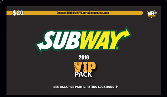 2019 Subway VIP Pack - NFP Sports CT East