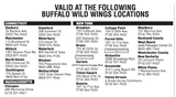 2019 Buffalo Wild Wings VIP Card - NFP Sports CT East