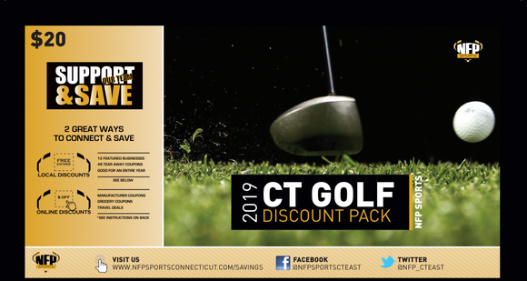 E.O. Smith Panthers Golf 2019 CT Golf Discount Pack - NFP Sports CT East