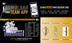 Westerly Football Premium Discount Card - NFP Sports CT East