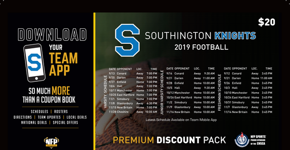Southington Blue Knights Freshman Football Premium Discount Pack 2019 - NFP Sports CT East