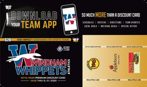 Windham Whippets Football Savings Club Card 2019 - NFP Sports CT East