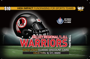 Valley Regional/Lyme-Old Lyme Warriors Football Classic Discount Card 2019 - NFP Sports CT East