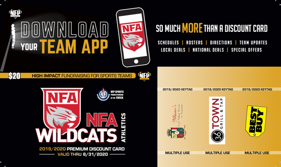 NFA Wildcats Football Premium Discount Card 2019 (Sophomores & Freshman) - NFP Sports CT East