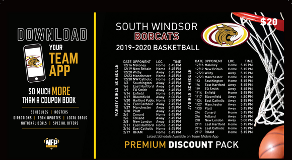 South Windsor Bobcats Girls' Basketball 2019 Premium Discount Pack - NFP Sports CT East