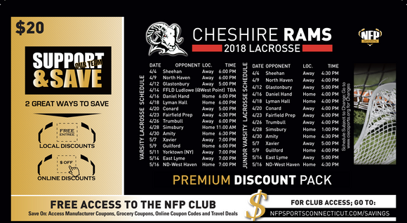 Cheshire Rams Boys' Lacrosse Premium Discount Pack - NFP Sports CT East