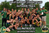 Coventry Patriots Outdoor Track Moe's Southwest Grill VIP Card - NFP Sports CT East