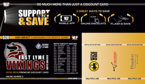 East Lyme Vikings Boys Soccer 2018 Premium Discount Card - NFP Sports CT East