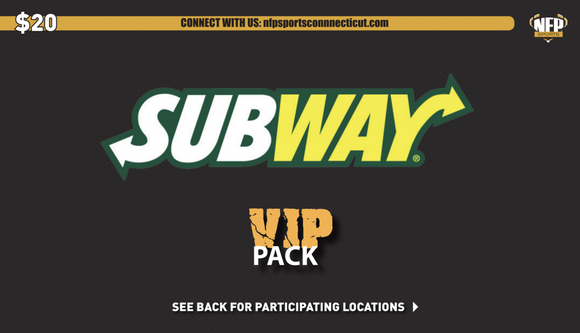2018 Subway VIP Pack - NFP Sports CT East