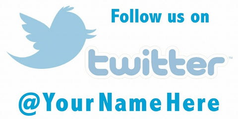 Twitter Classic Decal - Customized URL