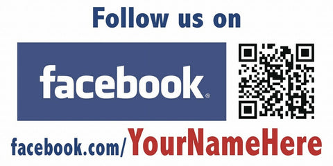 Facebook and QR Code Decal - Customized URL