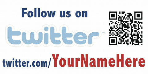 twitter and QR Code Decal - Customized URL