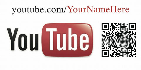 YouTube and QR Code Decal - Customized URL