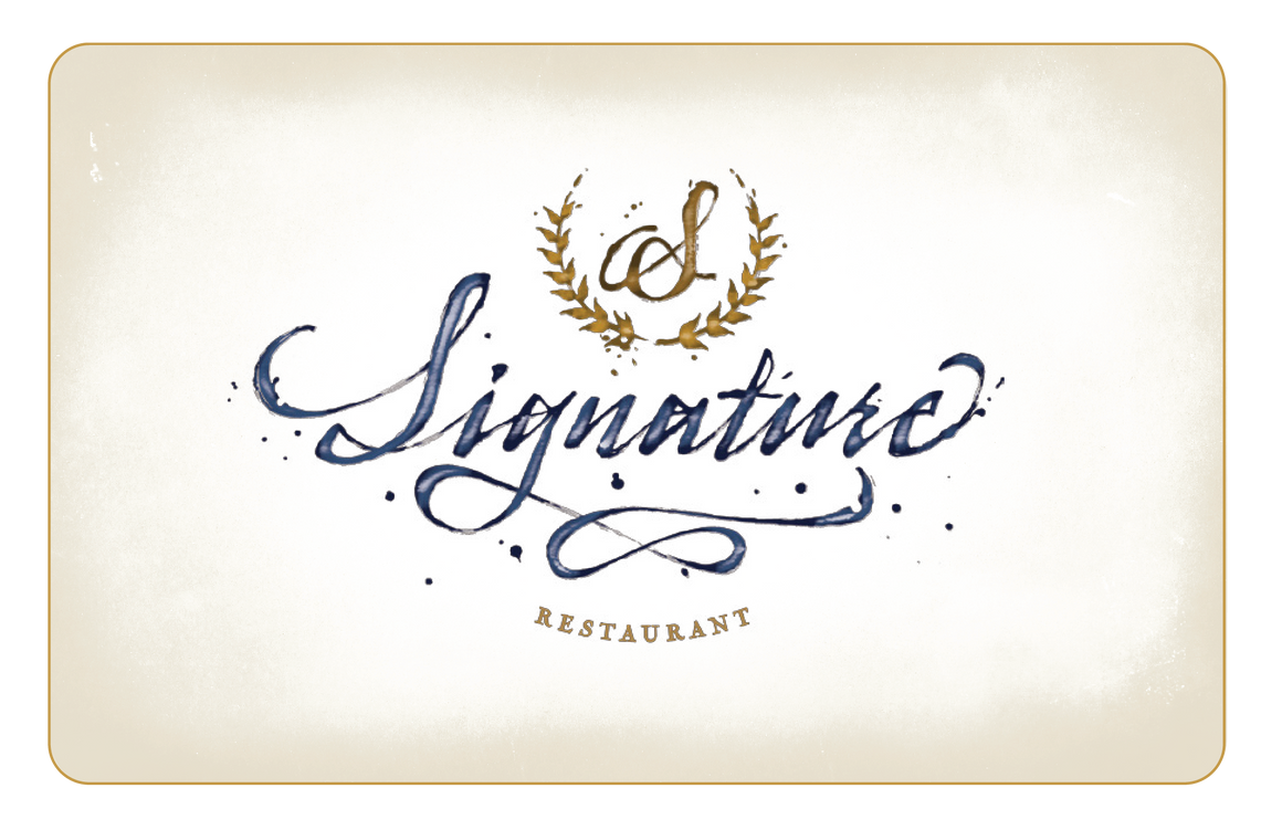 Signature Restaurant Gift Card