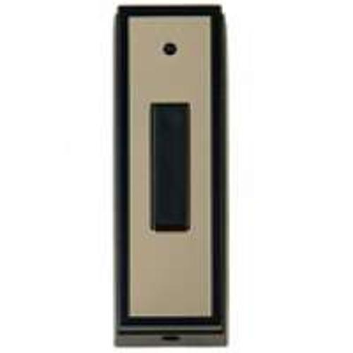 Carlon RC3311 Black Insert Chime Door Bell Pushbutton, Brass