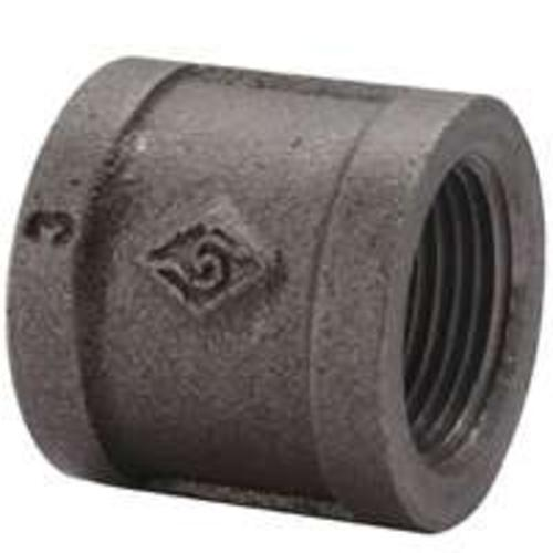 "Worldwide Sourcing B220 40 Malleable Coupling, 1-1/2"", Black"